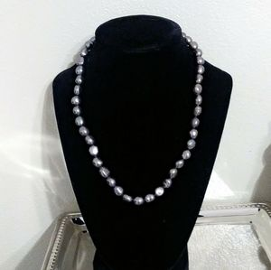 Honora freshwater cultured dk. grey pearl necklace